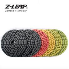 Z-LEAP 4 #8222 7cps diamentowy pady polerskie na mokro kolorowe tarcza szlifierska elastyczne akcesoria dremel tarcza szlifierska dla kamień marmur tanie tanio Z-LION CN (pochodzenie) NONE resin Remont Zespołu wgcsdg4 4inch