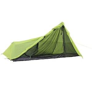 Image 5 - 780g solo 15D nlyon doppi lati olio di silicone impermeabile singola persona peso Leggero tenda da campeggio per il campeggio, trekking