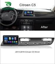 Octa Core Android 8,1 4GB RAM 64GM ROM navegación GPS con DVD para coche reproductor sin cubierta coche estéreo para Citroen C5 2013-2016 Radio de la unidad principal