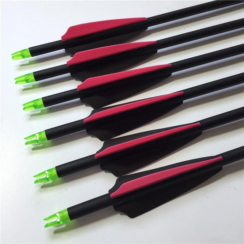 6Pcs 3 hüvelykes műanyag tollak Üvegszálas nyilak SP 750 - Vadászat