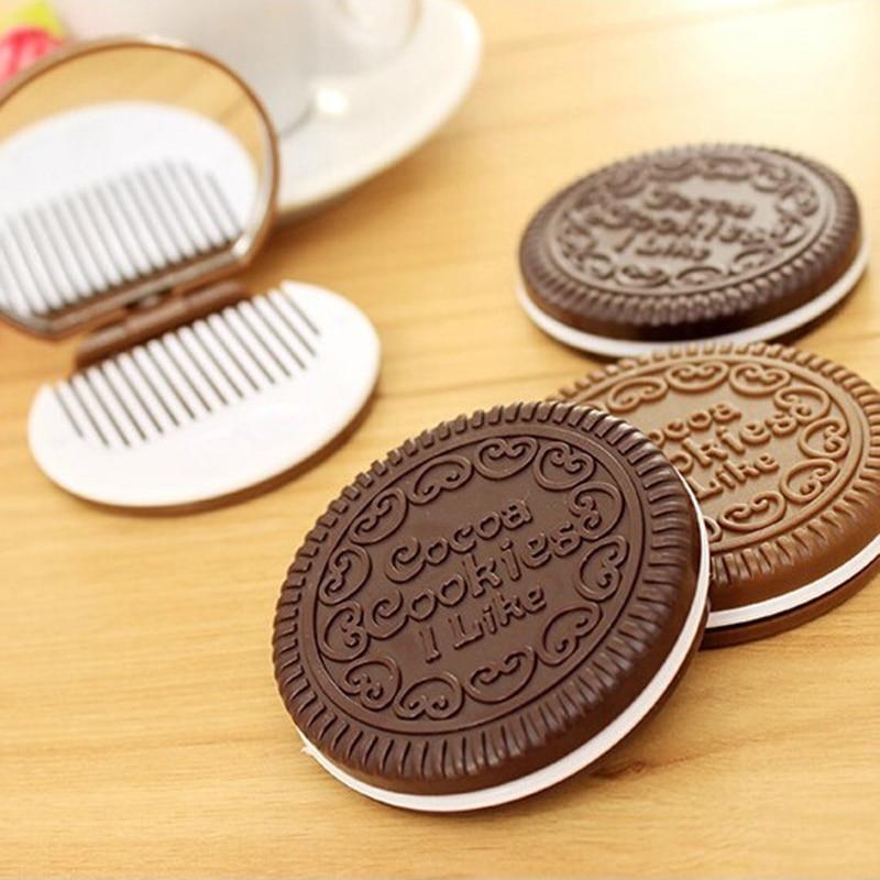 Clever Nette Kawaii Mini Tasche Make-up Spiegel Kosmetische Kompakte Metall Spiegel Farbe Zufällig Dia 7 Cm Schönheit & Gesundheit Schminkspiegel