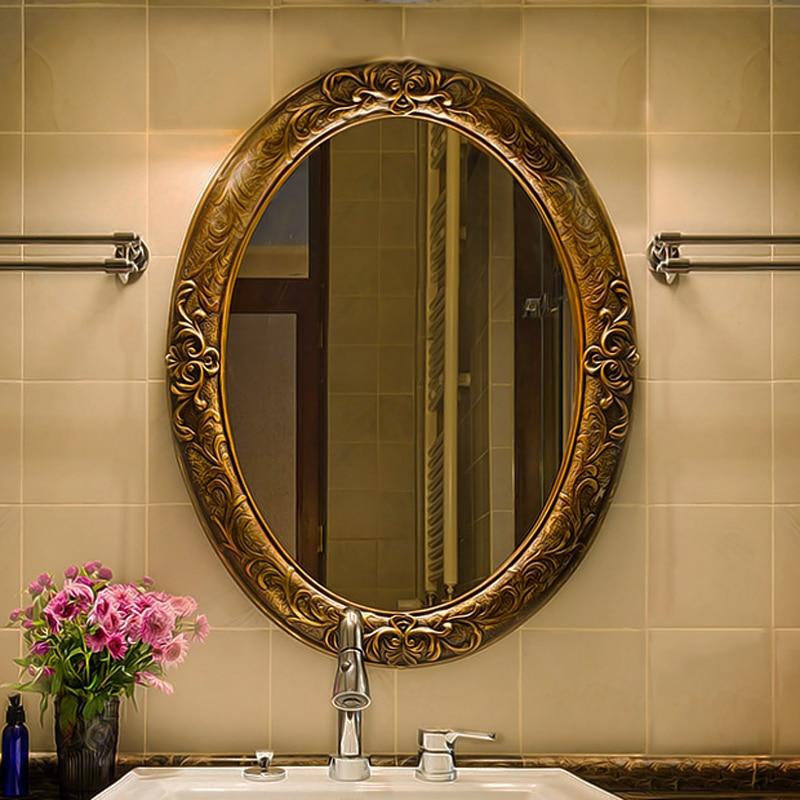62cmx81cm European Retro Oval Bathroom Mirror Entrance ...