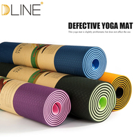 1830*610*6MM TPE Yoga Mat Fitness Mat Multicolor Non slip Thick Pad massage cushion Gymnastic trainer Defective products