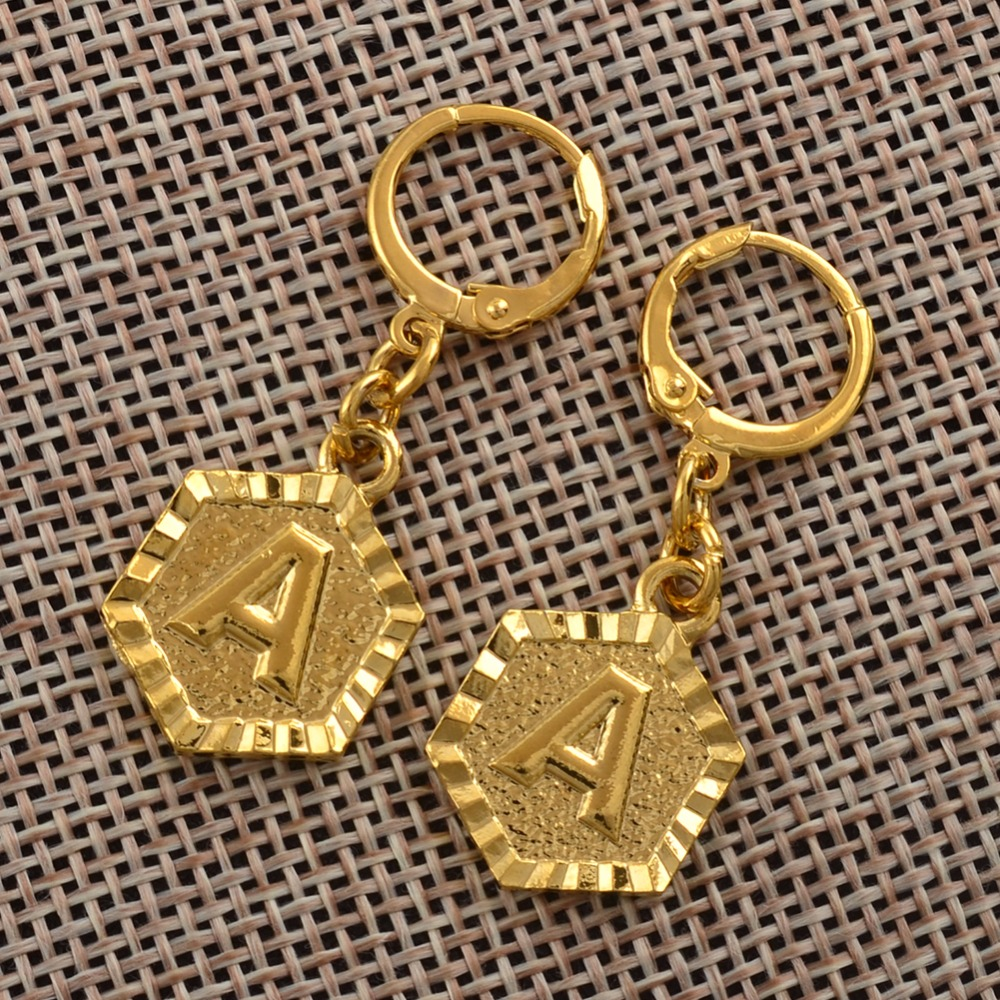 13972ec85 Anniyo A Z Letter Stud Earrings Women English Alphabet Earring Jewelry Gold  Color Initial (More Letter Check My Store) #131806-in Stud Earrings from  Jewelry ...