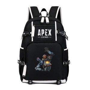 Image 4 - Hot Game Apex Legends Backpack Cosplay Kids Teens Laptop Shoulder Travel Bag Anime Gamer Student School Bags Gift