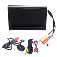 5 inch Color TFT LCD Monitor Car Parking Assistance 5 Monitors DC 12V Car Monitors With Rear View Camera