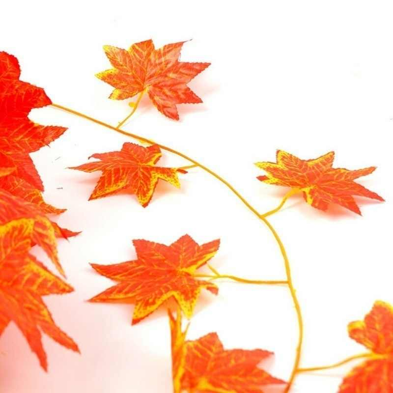 1X Grande Artificiale Autunno Maple Leaf Ghirlanda di Seta Della Vite Wedding Garden Decor
