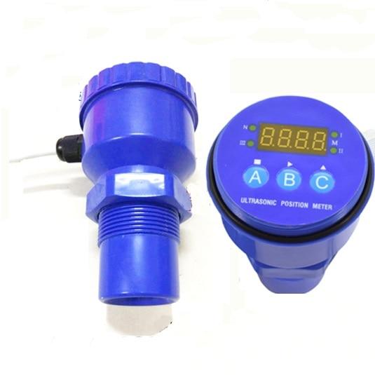 Free shipping 0 8M Ultrasonic level gauge Sensor 4 20MA ultrasonic level meter 12 36VDC