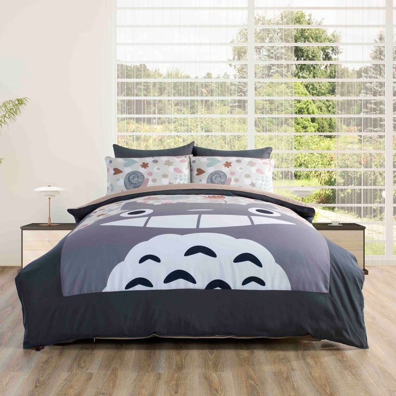 totoro bed set images galleries with a bite. Black Bedroom Furniture Sets. Home Design Ideas