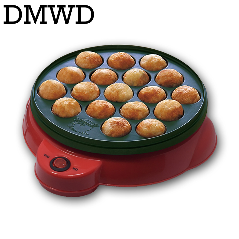 DMWD Chibi Maruko machine octopus baking machine household takoyaki machine octopus balls maker Professional cooking tools EU US cukyi exported professional octopus ball maker takoyaki machine 650w 220v 18 holes grill mold burning plate diy cooking tools