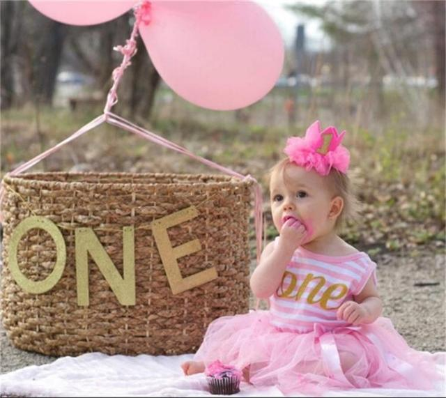 1 2 Jahr Baby Mädchen Geburtstag Kleid Baby Kleider Designs ...