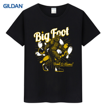 New Style T-Shirt For Man 2017 Big-Drunk Bigfoot T Shirt Funny Sasquatch Bigfoot Drinking Beer T Shirt T Shirts Polyester(China)