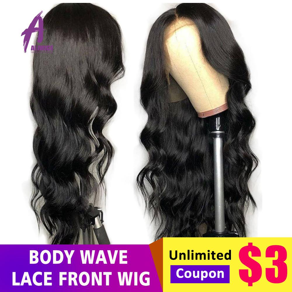 13x4 Lace Front Human Hair Wigs Brazilian Body Wave Hair Wig With Baby Hair Natural Black