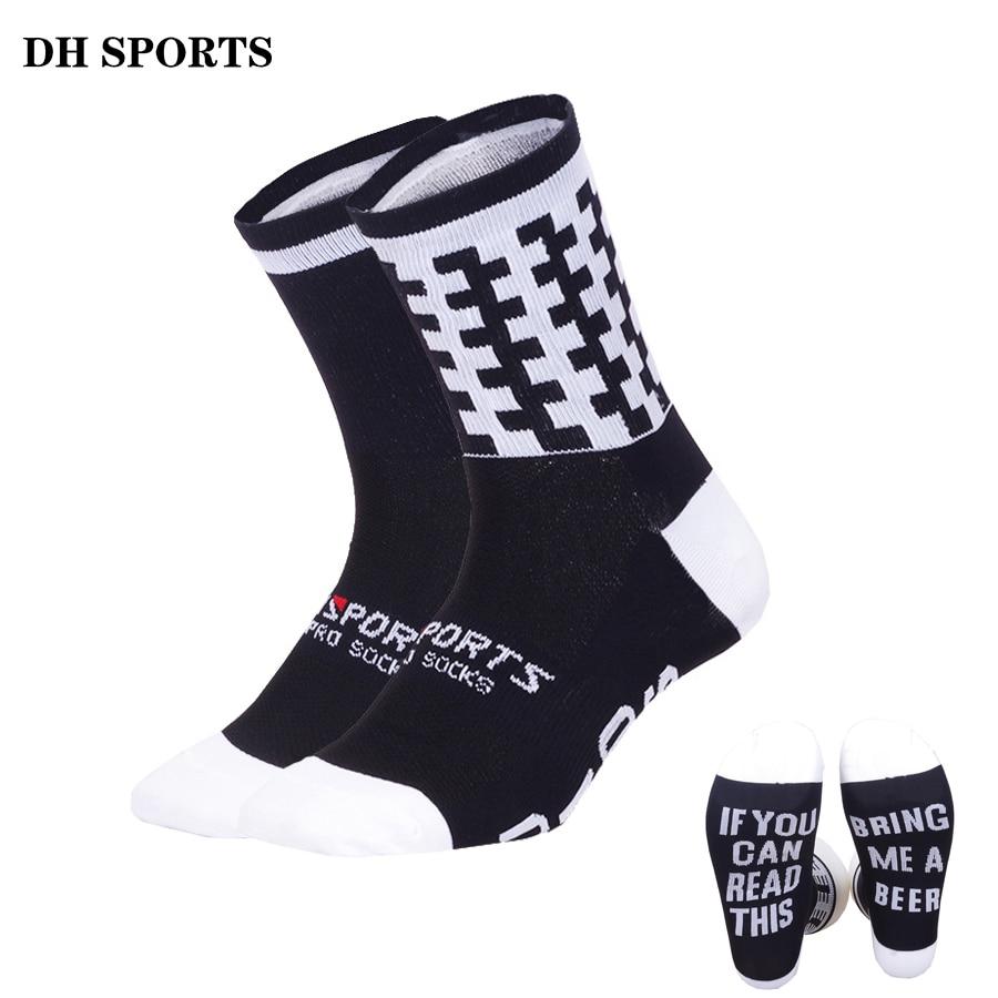 DH SPORTS 2018 Funny Running Socks Professional Sports Socks Women Men Stylish Cycling Compression Camping Climbing Sock 38-45 gelete stylish men s sports socks black pair