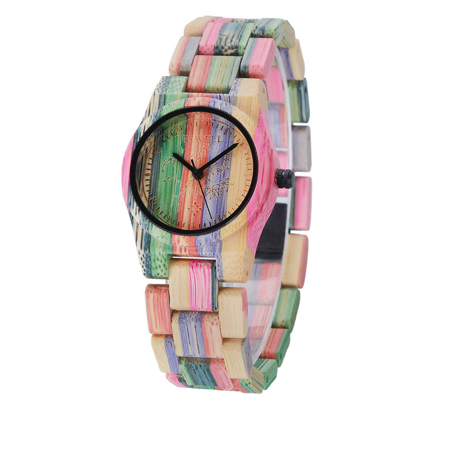 Wood-Watch Quartz Handmade Female Fashion for Nature Casual in Gift-Box Your Family 105DL