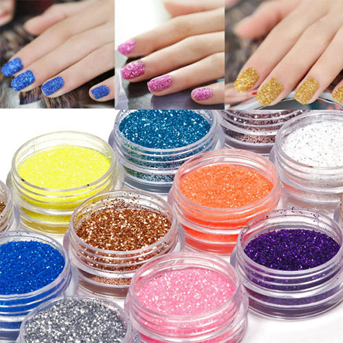 ⊹2018 New Nails Glitter Laser Powder Shining Chrome Pigment Dust ...