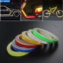 Cinta reflectante de 8 metros para el coche, llanta para el cuerpo de la motocicleta, cinta adhesiva decorativa, azul/rojo/amarillo, 1 unidad