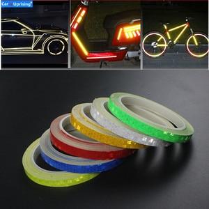 Image 1 - Cinta reflectante de 8 metros para el coche, llanta para el cuerpo de la motocicleta, cinta adhesiva decorativa, azul/rojo/amarillo, 1 unidad
