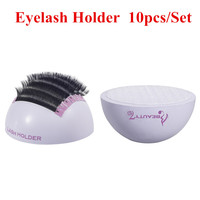 BEAUTY7 10pcs Makeup Tools Mink Eyelashes Stand Holder Pallets Eyelash Extension Individual False Eyelash Holder Adhesive Pallet