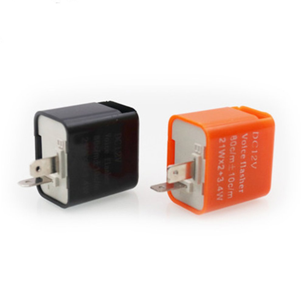 1 PC 12V 2 Pin Motorcycle Blinker Adjustable LED Flasher Relay Turn Signal Indicator Hyper Flashing
