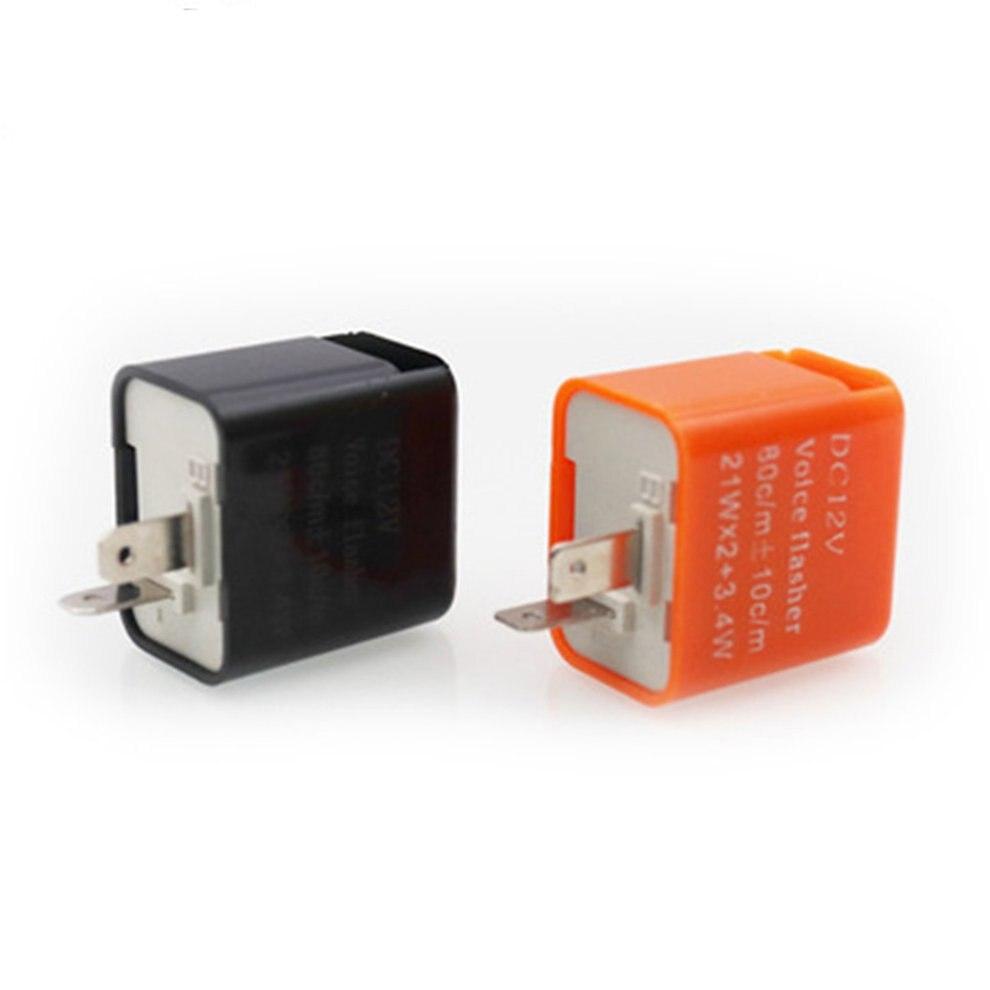 1 PC 12V 2 Pin Motorcycle Blinker Adjustable LED Flasher Relay Turn Signal Indicator Hyper Flashing