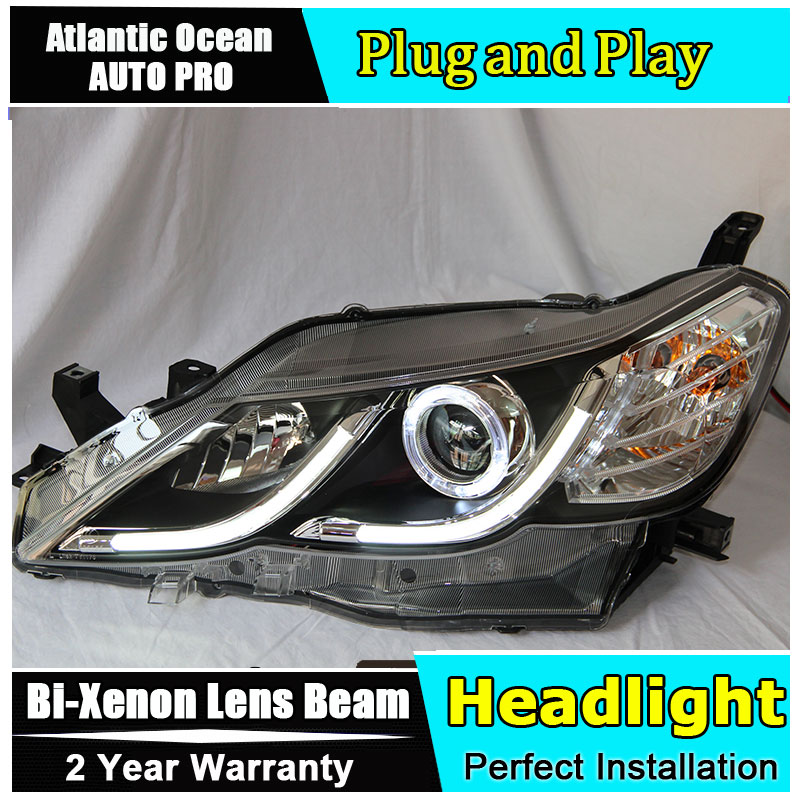 Auto Lighting Style LED Head Lamp for Toyota Reiz led headlights 2010-2012 Mark X Cob drl HID KIT Bi-Xenon Lens low beam hireno headlamp for 2016 hyundai elantra headlight assembly led drl angel lens double beam hid xenon 2pcs
