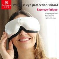 Portable USB Charging Wireless Eye Massager Air Warm Vibration Fatigue Pressure Protection Folding Instrument Circles Massage