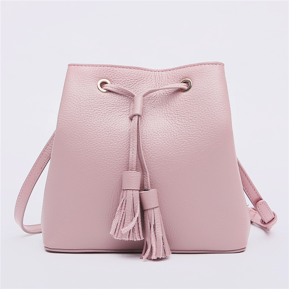 New Arrival Women Fashion Bag Famous Brand Designer Bucket Genuine Leather Lady Messenger Bag Crossbody Bag for Girls Bolsa Sac new arrival women luxury brand small flap bag designer split leather women messenger bag lady chain crossbody bag bolsa sac
