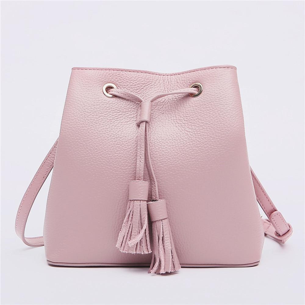 New Arrival Women Fashion Bag Famous Brand Designer Bucket Genuine Leather Lady Messenger Bag Crossbody Bag for Girls Bolsa Sac цена