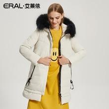 ERAL 2017 Winter Women's Raccoon Fur Collar Hood Long Parka Coat Thermal Warm Down Jacket Plus Size Luxury Brand ERAL16020-FDAB