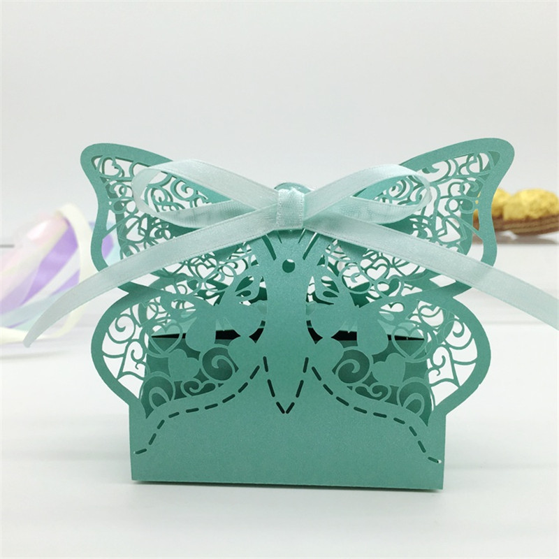 Butterfly Heart Wedding Candy Box Wedding Favors And Gifts Boxes