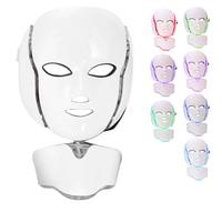 7 Colors Led Mask Spa facial masks Skin Rejuvenation Whitening Facial Beauty Daily Skin Care Mask LED Light Neck Beauty Mask