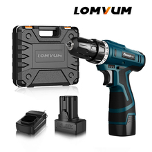 LOMVUM New Arrivals Electric Screwdriver Multifunction Power Tools Drill WaterProof Rechargeable Mini Cordless