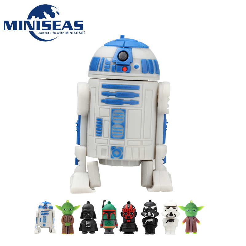 Miniseas Unidade Flash Usb 2016 Moda New Star Wars 8G/16G/32G/64G 2.0 Pen Drive Pendrive Memory Stick USB U prato Para PC
