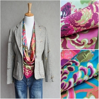 Perfect Color Nobel Peony Print 100% Silk Twill Scarf Large Square Silk Scarfs Shawl Wraps Female Fabulous Gifts 88x88cm