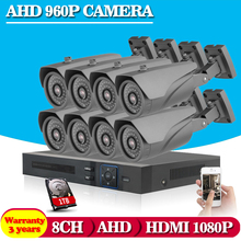 8CH AHD CCTV System 8Ch AHD DVR Surveillance Security Systems 2500TVL Warterproof Night Vision IR Camera DIY Kit 1TB HDD