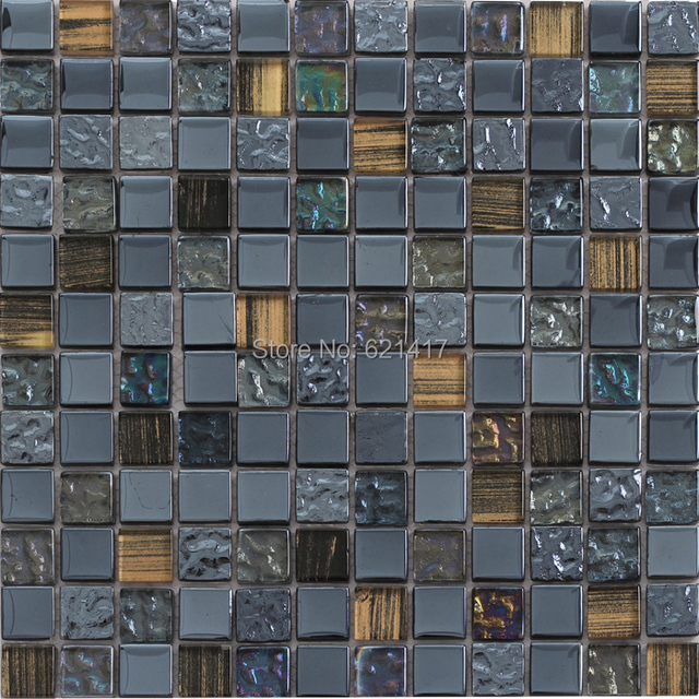 Grigio mosaico di vetro piastrelle cucina torna splash mosaico bagno ...