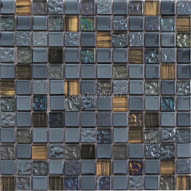 Gray Glass Mosaic Tiles Kitchen Back Splash Mosaic Bathroom Shower - 12x12 tile shower walls