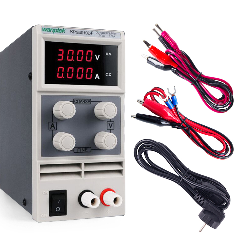 Image 2 - DC Power Supply Variable Adjustable Switching Regulated lab Power Supply Digital with output line Mini probe Equipment 110/220V-in Switching Power Supply from Home Improvement