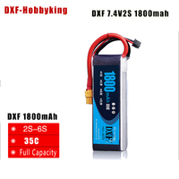 2017 DXF High Quality 7.4v 1800mAh 2S 35C LiPo Battery For RC Helicopter RC Car Boat Quadcopter Remote Control Toys Parts|lipo battery|battery for rc|battery for rc helicopter -