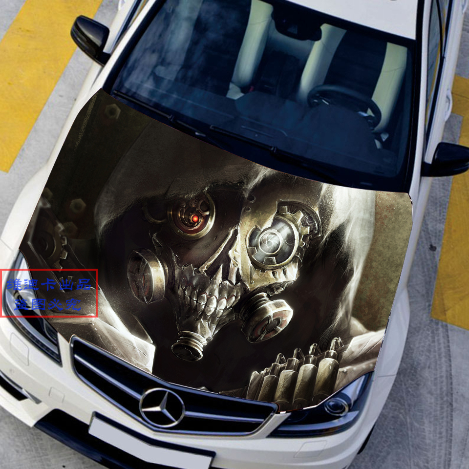 Japanese Car Stickers Decals 3D Game Overwatch Reaper Skull Hood Decal Auto Roof Gabriel Reyes Camouflage Vinyl Car Accessories car styling uchiha sasuke naruto door stickers japanese anime vinyl sticker decals auto body racing decal acgn car film paint