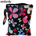 "[simfamily]1PC Reusable Waterproof Printed PUL Diaper Small Wet Bag Single Pocket,Cloth Handle,7.5""x10"" Wholesale Selling"