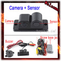 Parking Sensor 2 In 1 Car Auto Reverse Reversing Backup Radar Video System Parking Distance Control CCD Parking Camera Black