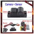 Parking Sensor 2 In 1 Car Auto Reverse Reversing Backup Radar Video System Parking Distance Control CCD Parking Camera Black