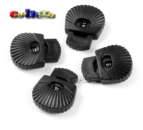 """8mm Hole Plastic Toggle Cord Lock Stopper For Shoe Paracord Sportswear 5//16/"""""""
