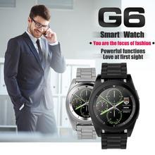 บลูทูธ4.0 g6 smart watchข้อมือบลูทูธแฟชั่นใหม่กล้องอัตราการเต้นหัวใจสำหรับios a ndroidอัตราการเต้นหัวใจ
