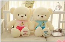 a pair of lovely blue and pink scraf teddy bear toys bear toy cute bear toys gift dolls about 60cm