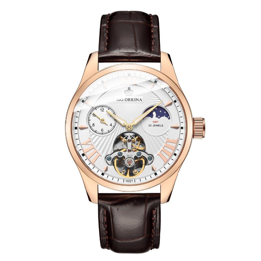 MG. ORKINA качественные мужские часы Tourbillon, мужские автоматические дизельные часы с чайкой, мужские светящиеся водонепроницаемые механические