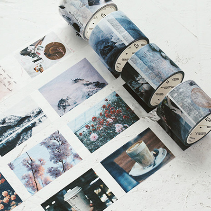 Life collage series washi tape DIY Decorative scrapbooking stickers album Scrapbook masking adhesive tapes