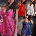 2016 mais novo Sexy Lingerie Senhoras Roupa de Dormir Roupa Interior Pijamas Babydoll + G Cordas Lace Dress-J117
